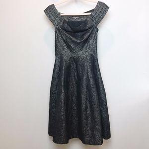 Emily and Fin | Black Metallic Kettlecorn Dress XS